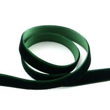 1 X 4m Continuous Length Dark Green 10mm Velvet Ribbon Sewing Jewellery Making