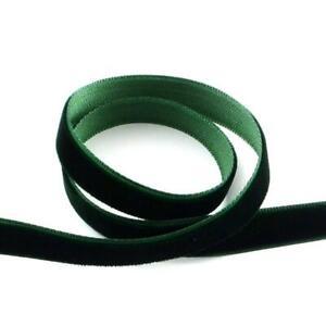 1 x 4m Continuous Length Dark Green Velvet 10mm Ribbon Y12885