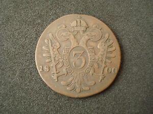 Austria, 3 Kreutzer, 1800 S, nice