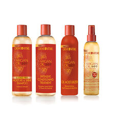 Creme of Nature Argan Oil Shampoo, Treatment, Lv-in Conditioner& Moisturizer Set