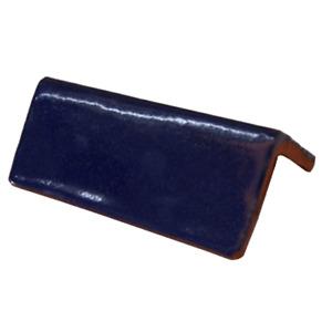12 Trim Bullnose Mexican Molding Tile V-CAP SOLID COBALT BLUE