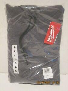 Milwaukee 350G-L MEN'S Gray Heavy Duty Long-Sleeve Pullover Hoodie NEW-NISP FSP