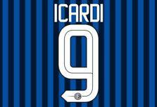 Icardi #9 Inter Milan 2015-2016 Home Football Nameset for shirt