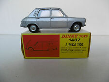 DINKY TOYS FRANCE  SIMCA 1100  REF. 1407  BOITE D'ORIGINE  BON ÉTAT  1968/71