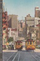 California ~ SAN FRANCISCO ~ Cable Cars on California Street- Vintage Postcard