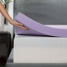 3 Inch Lavender Infused Memory Foam Mattress Topper - Ventilated Design
