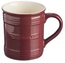 Mason Cash Set of 4 Large Plum Red Mugs Ribbed Large Coffee Tea Cocoa Mugs