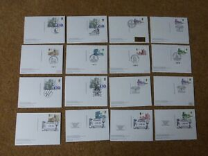 Excellent Collection GB High Value Definitive PHQs with FDI on reverse (16)