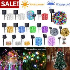 LED Solar String Light Waterproof Copper Wire Lamp Outdoor Garden Xmas Lighting