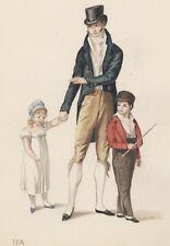 """""""LA MODE en 1804"""" Aquarelle s/papier non signée attribuée à DRIAN (A. ETIENNE)"""