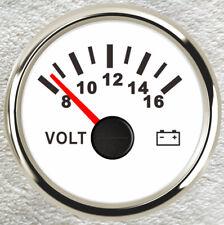 2''/52mm Volt Meter Universal Car 8-16V Illuminated Battery Condition Volt Gauge