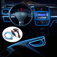 3M Blue Car LED EL Wire Light Strip Interior Atmosphere Glow Neon Lamp Decor