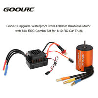 GoolRC 3650 4300KV Brushless Motor with 60A ESC Combo Set for 1/10 Truck Car