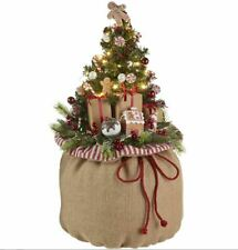 24 Inch LIGHTED GIFT BAG WITH TREE - By RAZ IMPORTS 3915529