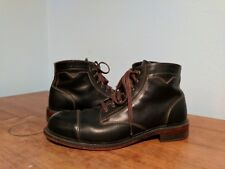 WOLVERINE 1000 MILE KRAUSE BLACK LEATHER CAP TOE WORK BOOTS 10.5 D