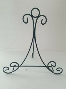 """Metal Scroll EASEL Plate Picture Display Book Stand  Black  12"""" × 12"""""""