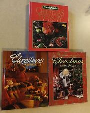 3 HC CHRISTMAS BKS: DECORATIONS RECIPES CRAFTS FAMILY CIRCLE BETTER H&G REIMAN