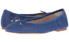 0e8e73029 Sam Edelman Felicia 2 Ballet Flats Indigo Blue Perforated Leather Suede  Women 7
