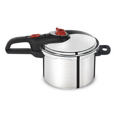 Stainless Steel 6.3-Quart Stove-Top Pressure Cooker with Auto Locking System