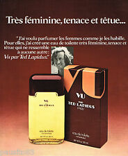 PUBLICITE ADVERTISING 055  1975  TED LAPIDUS  parfum homme VU