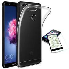 Silikon Transparent + 0,3 H9 Hart Glas für Huawei P Smart Tasche Hülle Cover