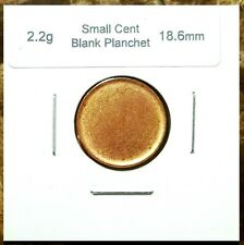 One Canada ERROR Coin Blank Planchet Penny Cent 2.25 grams Uncirculated Red 1