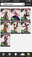 Topps Star Wars Digital Card Trader 7 Card Green Women Of Star Wars Insert Set