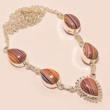 ATTRACTIVE RAINBOW CALCITE GEMSTONE HANDMADE FASHION JEWELRY NECKLACE 18""