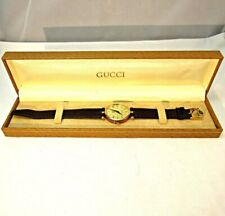 Gucci Quartz Red and Green Logo Stacked Watch with Original Box