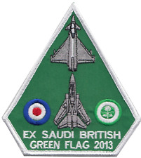 RAF Eurofighter Typhoon & Panavia Tornado Exercise Green Flag Embroidered Patch
