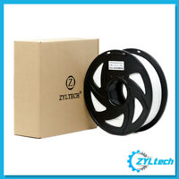 ZYLtech PLA 3D Printer Filament, 1.75 mm, 1 kg, 2.2 lbs- Milky White
