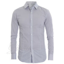 Camicia Uomo Slim Colletto Fantasia Bicolore Casual GIOSAL