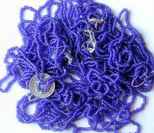 Cobalt Blue Vintage Seed Beads 11/0 Glass 58g Lot 5 Tangled Mini Hanks+(6174725)