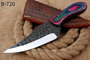 "10"" Custom Hand Forged Railroad High Carbon Steel Hunting Skinner Knife (720)"