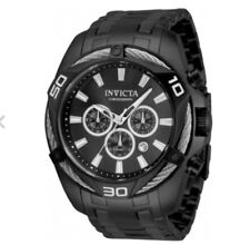 $995 Invicta Bolt 34136 50mm Black Watch Flame Fusion Timepiece
