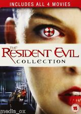 Resident Evil: 1 2 3 & 4 Movie Collection Box Set | Milla Jovovich | New | DVD