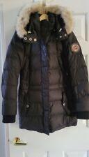 Bogner Fire And Ice Ski Jacket Down Filled Coyote Fur Trim Black Sz 4 Euc