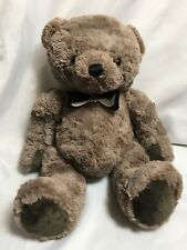 Animal Adventure 16 inch stuffed bear, stitched nose, super soft, paper bow tie