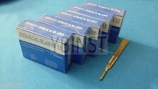 500 STERILE SURGICAL BLADES #20 #21 #22 #23 #24 W/ FREE SCALPEL KNIFE HANDLE #4
