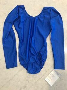 BalTogs Long Sleeve Scoop Neck Leotard #812 MEDIUM ROYAL BLUE NEW WITH TAGS