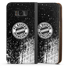 Samsung Galaxy S8 Tasche Hülle Flip Case - Splatter Schwarz - FC Bayern München