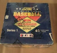 1992 SCORE BASEBALL  SERIES I 1  Jumbo Box 24 Packs  wrapped by BBCE