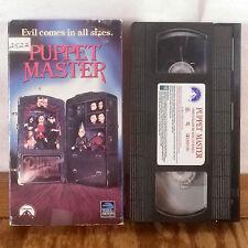 Puppet Master VHS Movie Film Tape Horror Gore Slasher Full Moon 1st Edition