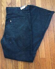 Nwt Deadstock Levi's Bell Bottom Dark Green Corduroy Pants 42 x 34