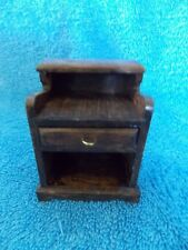 """Miniature Dollhouse Wood Stained 2 1/2"""" Tall Dry Sink"""