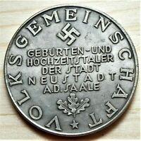WW2 GERMAN COMMEMORATIVE REICHSMARK COLLECTORS COIN VOLKSGEMEINSCH