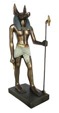 Anubis Egyptian Statue Jackal God of the Dead Bronze Finish Egyptian Decor #1142
