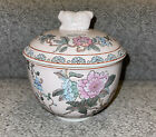 Chinese porcelain/Ceramic pot with lid, rose glaze w/ figures Gorgeous Color