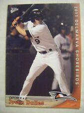 JUSTIN DALLES 2011 DELMARVA SHOREBIRDS baseball card USC GAMECOCKS COLUMBIA SC