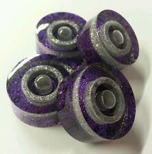 4 Guitar speed volume/tone knobs. Purple & Silver Flake. JAT CUSTOM GUITAR PARTS